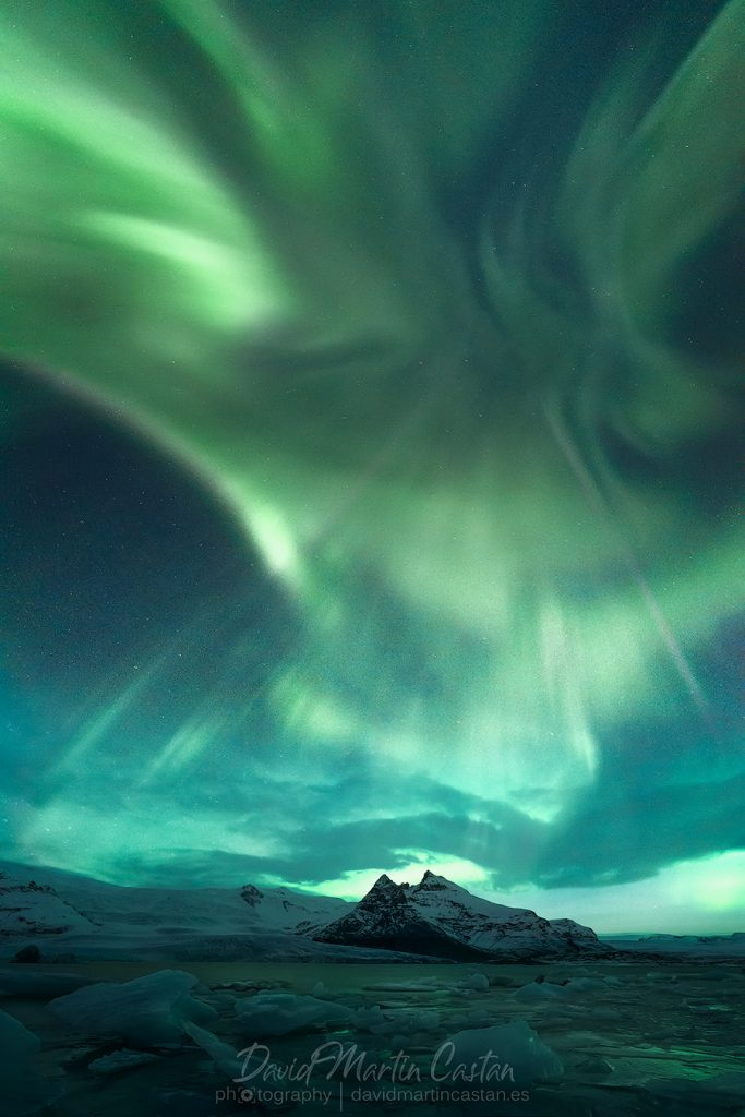 Jokulsarlon aurora boreal