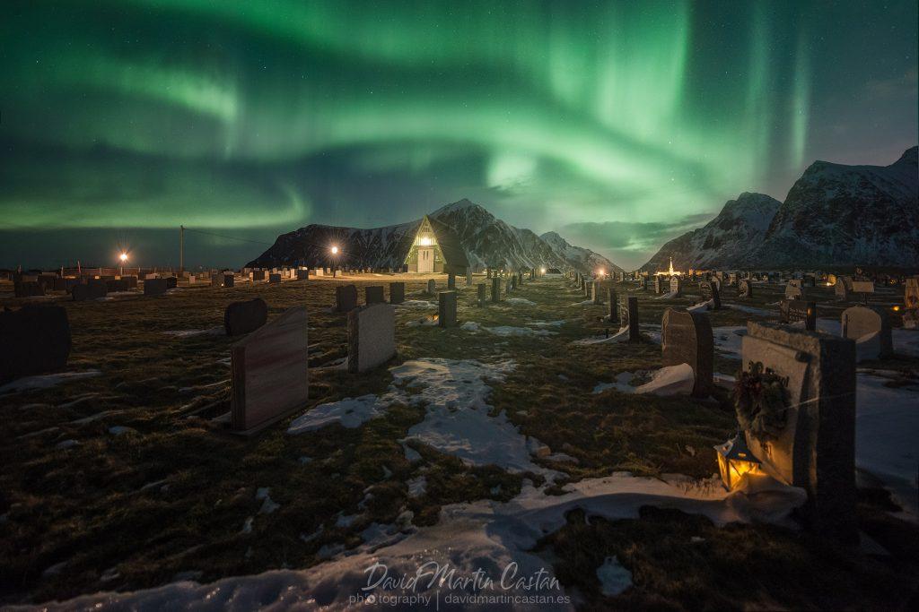 Aurora sobre Flakstad, Lofoten